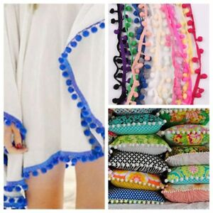 DIY-Sewing-Lace-20Yards-Lot-10MM-PomPom-Trim-Ball-Fringe-Ribbon-Home-Party-Decor