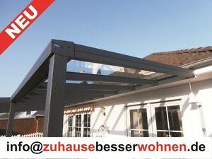 terrassen berdachung carport berdachung aluminium terrassendach vsg glas 4x2 5m ebay. Black Bedroom Furniture Sets. Home Design Ideas