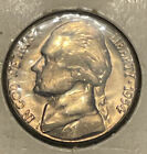 1954 Jefferson Nickel 5 Cent Piece BU Uncirculated Mint State 5c US Coin