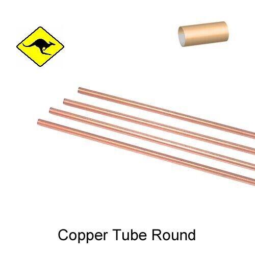 Copper Tube Round 1.57mm OD x 0.86mm ID x 30cm Length