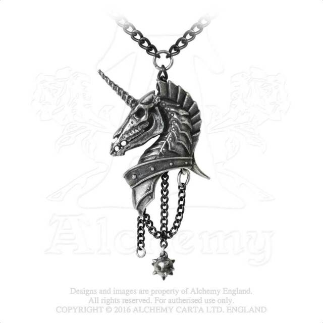 Alchemy - Geistalon - Blindado Unicornio Colgante Peltre