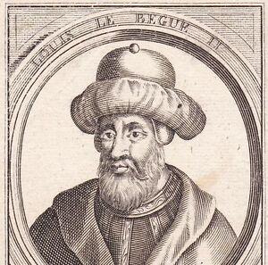 Portrait-XVIIe-Louis-le-Begue-II-Roi-de-Francie-Occidentale-Roi-d-039-Aquitaine