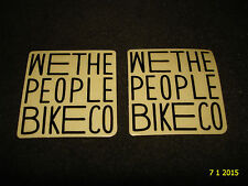2 AUTHENTIC SMALL WETHEPEOPLE BMX BIKES BLACK STICKERS #52 DECALS AUFKLEBER