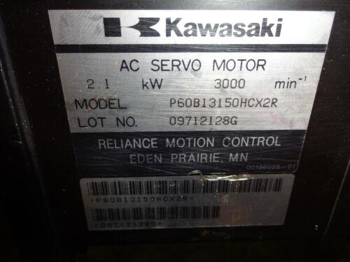 3000 RPM KAWASAKI P60B13150HCX2R AC SERVO MOTOR 2.1 kW