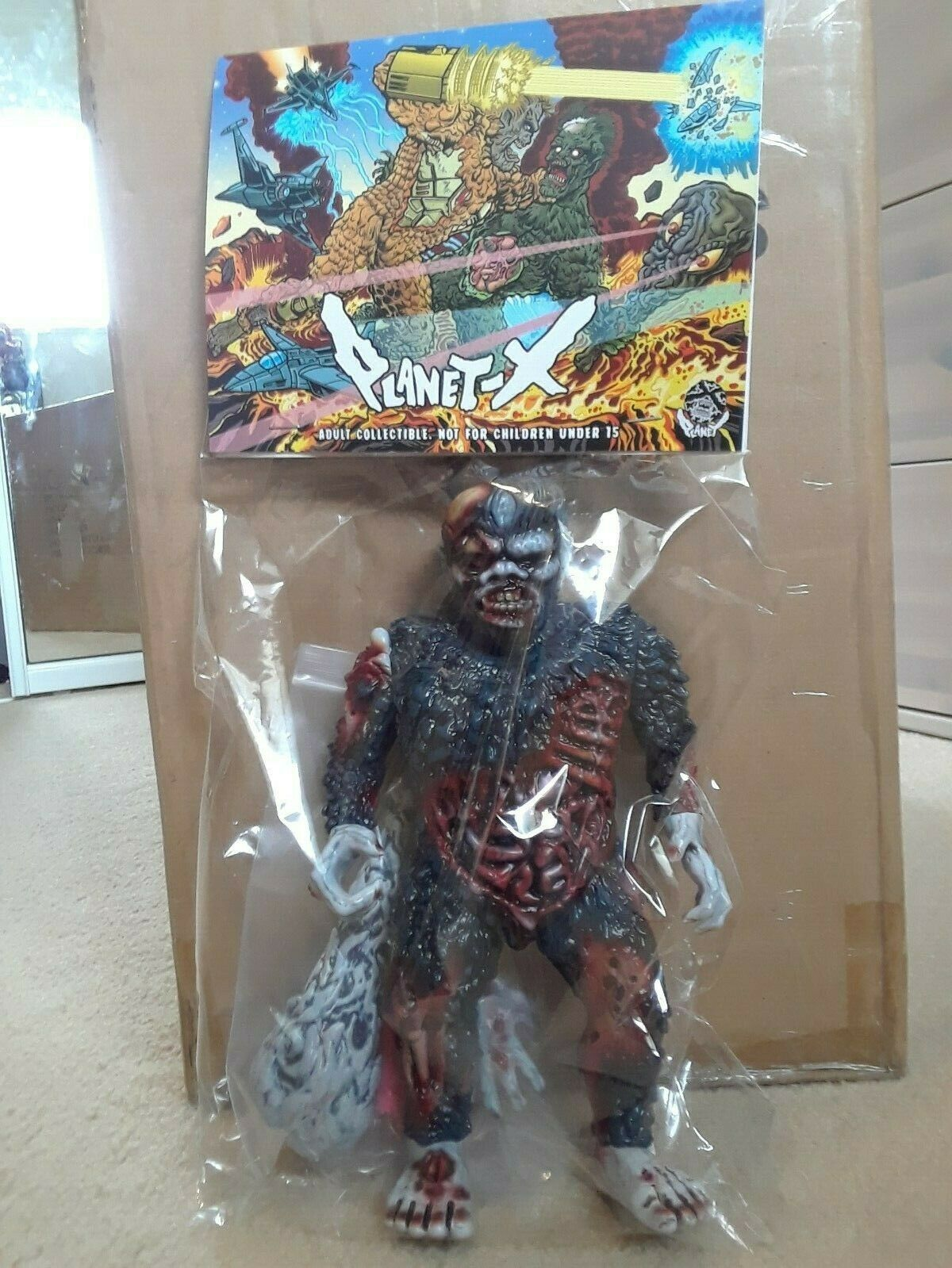 Planet X Asia  Necrogaira 1st Painted Version  MISP Kaiju  liquidazione