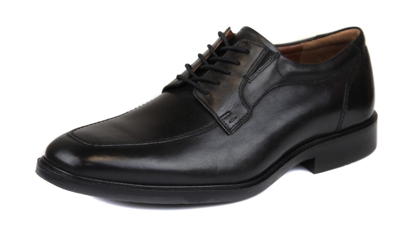 Johnston & Murphy Herren Schwarz Tillman Mokassin Zeh Oxford Schuhe Ret. Neu