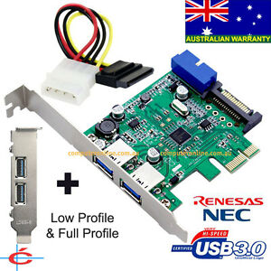 USB-3-0-2-back-20-pin-Internal-Connecter-PCI-E-Card-Full-amp-Low-Profile
