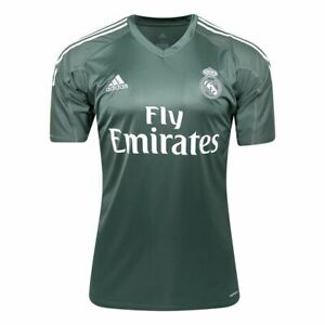 823e06517 Image is loading JERSEY-ADIDAS-REAL-MADRID-GOALKEEAPER-GREEN-ADIZERO-SOCCER-