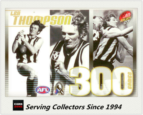 Select AFL 300 Game Case Card 2007 Supreme CC20 Len Thompson Collingwood