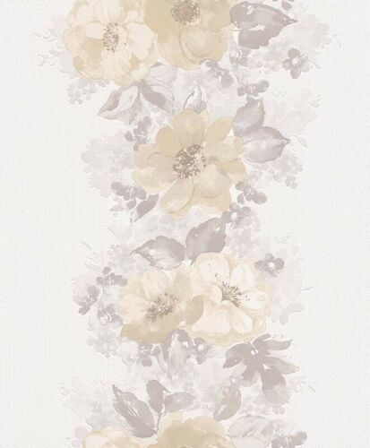 1,55€//1qm Vliestapete Floral Blumen Geblümt weiß Erismann Claire 6427-02