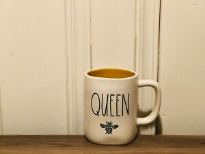 Rae-Dunn-Summer-Collection-by-Magenta-QUEEN-BEE-Yellow-Interior-Coffee-Mug