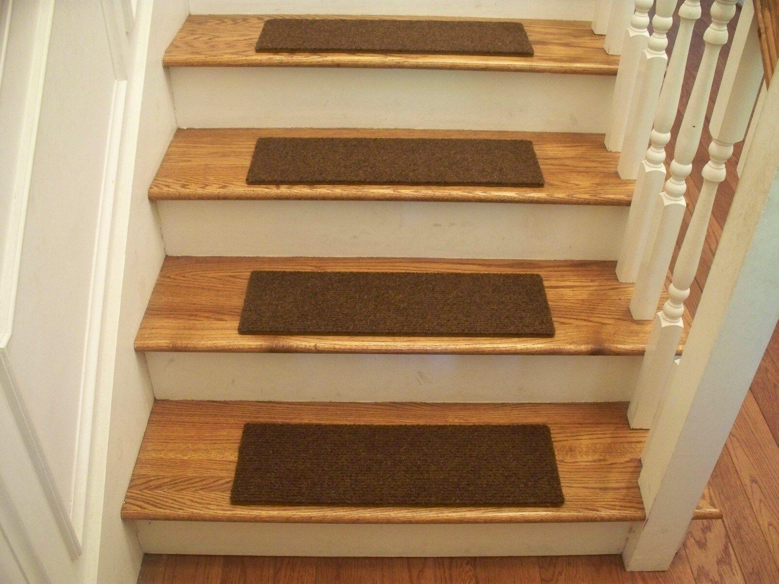 Premium Premium Premium Carpet Stair Tread Sets - Velour braun - 24  x 8  d8b154