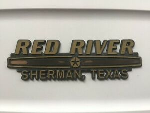 Car Dealerships In Sherman Tx >> Details About Red River Car Dealer Dealership Plastic Emblem Sherman Texas