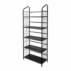 Captivating Image Is Loading Black Outdoor Patio Plant Stand Casual Metal Bookcase