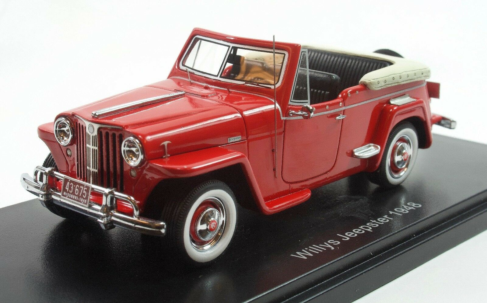 NEO 1 43 Willys Jeepster rouge