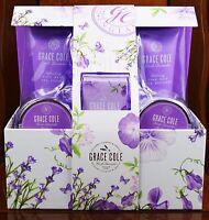 Grace Cole Birthday Gift Set Body Wash Cream Soap Foam Bath Puff Bath Crystal