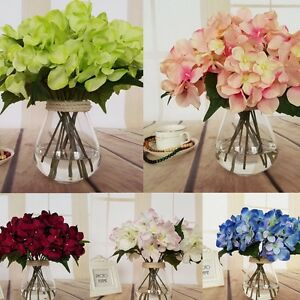 6 color artificial fake silk flowers 6 head flower bouquet party image is loading 6 color artificial fake silk flowers 6 head mightylinksfo