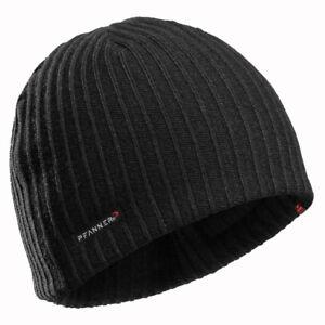 PFANNER Primaloft Gold Strickmütze schwarz Mütze Fleece kalt Winter Kopf Outdoor
