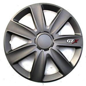 Enjoliveurs-Roue-Couverture-GTX-Charbon-Graphite-15-034-Pouces-4-tlg-de-TN