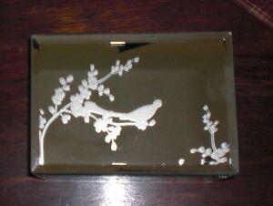 cynthia rowley ny mirrored glass jewelry trinket box