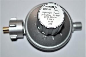 50-200mbar-GOK-Druckregler-11-Stufen-Gasregler-Druckminderer-verstellbar-1-5kg-h