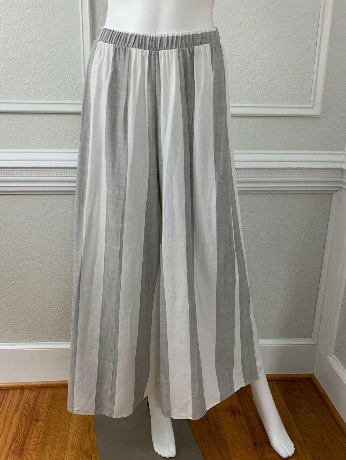 Show Me Your Mumu Explorer Gaucho Pants Grey Whit… - image 3