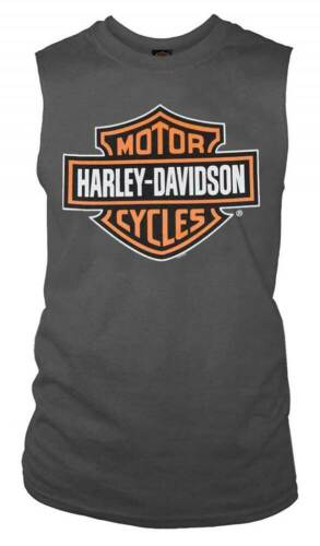 Charcoal Tee 30296624 Harley-Davidson Men/'s Bar /& Shield Muscle Shirt Tank Top