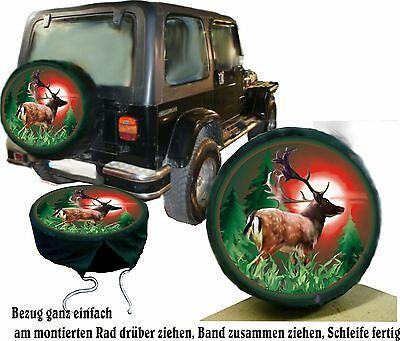 Damhirsch  Hirsch Wild Jagd Auto SUV Jeep Suziki u.A Reserver Radbezug