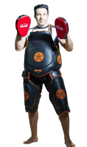 TOP TEN  Trainingsset Bodyguard Muay Thai Gürtel und Oberschenkelschützer.MMA