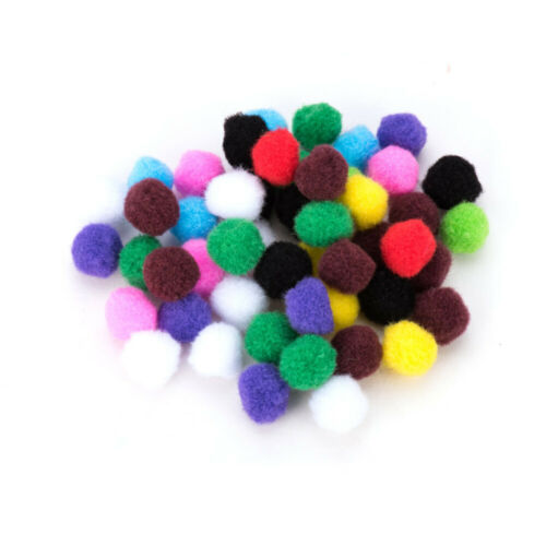 1 Bag Multicolor Assorted Pom Poms Balls for DIY Doll Craft Party Decoration