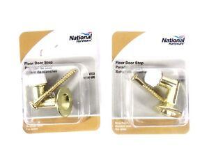 National-Hardware-Doorstop-Floor-Bright-Brass-N154-500-Lot-of-2