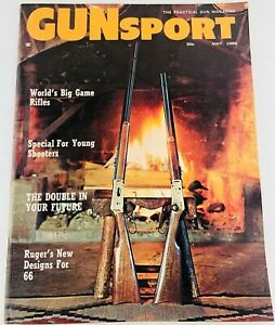 Vintage Gun Sport Magazine May 1966 Ruger's New Designs for 66
