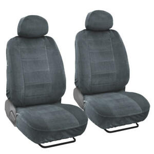Image Is Loading Soft And Thick Velour Front Car Seat Covers
