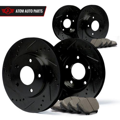 Slot Drill Rotor Ceramic Pads F+R 07 08 09 VW Jetta City Black See Desc.