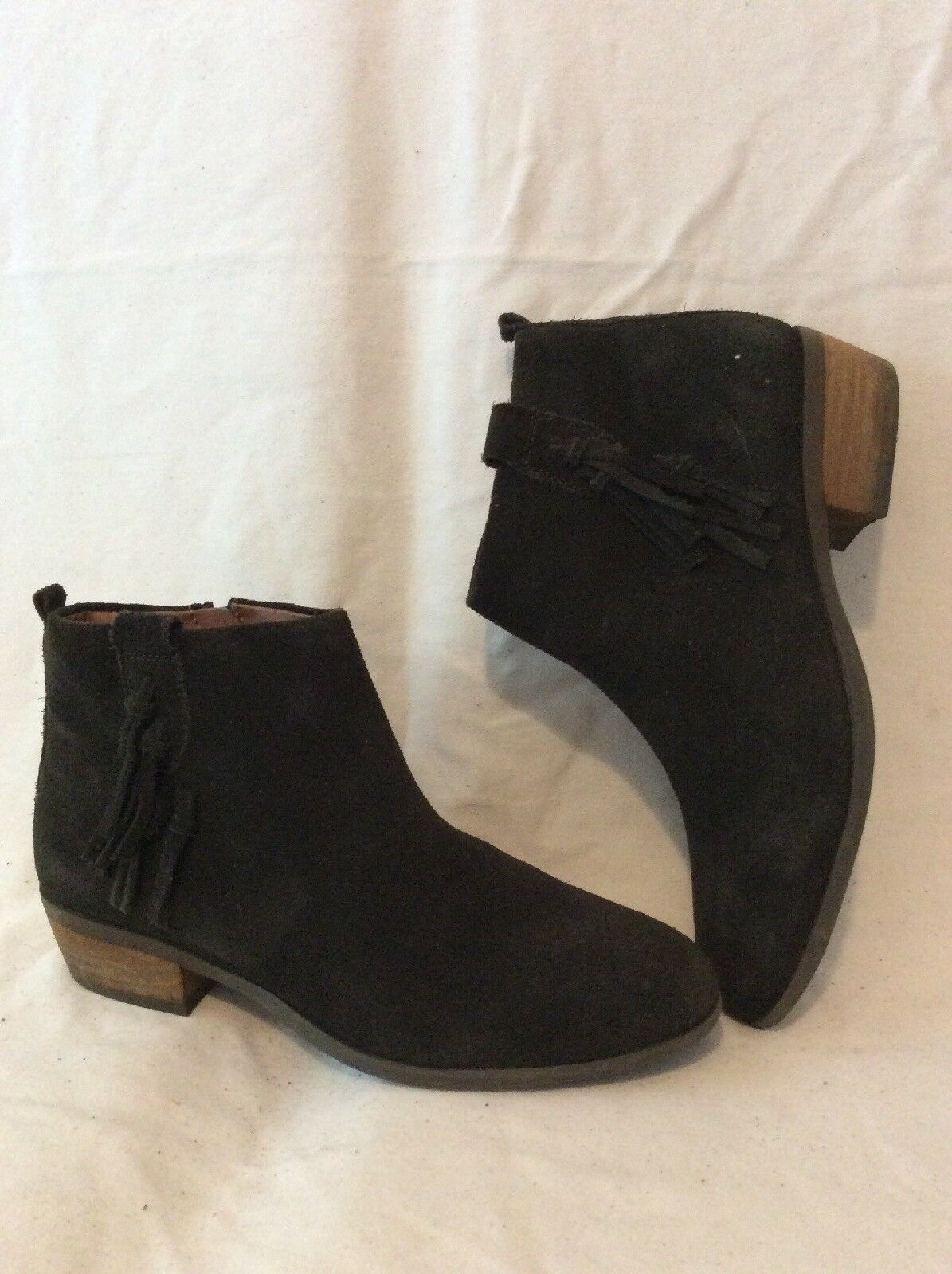 Indigo Collection Dark Brown Ankle Suede Boots Size 4