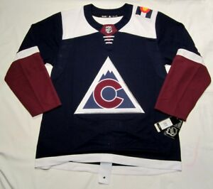 wholesale dealer 03f4b 152ec Details about COLORADO AVALANCHE size 50 = Medium Alternate 3rd Style  ADIDAS NHL HOCKEY JERSEY