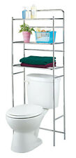 3 Tier Over the Toilet Space Saver Cabinet Wire Shelves Rack Chrome NEW Tidy