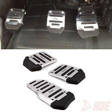 Manual Auto Car Pedal Treadle NoSlip Aluminum Cover Pad Set for Brake Clutch Gas