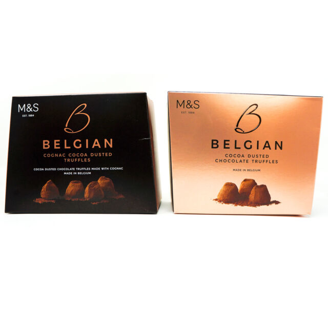 Marks Spencer Belgian Cognac Cocoa Dusted Chocolate Truffles Gift Box 260g Ms