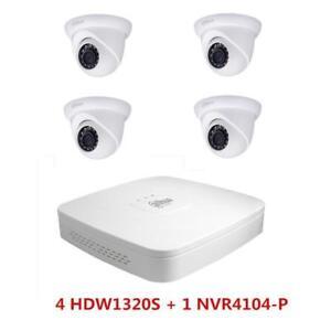 Dahua Ipc Hdw1320s 3mp Ip Ir Dome Cameras Kit With 4ch Poe
