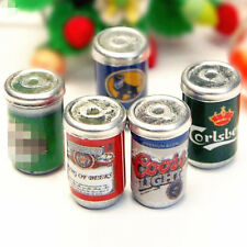 1x Random Miniature Dollhouse Beer Can Bottle Drink Bar Kitchen Decor 1/12 Scale