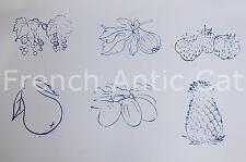Ancienne boite tampon STUDIA Fruit 11.077 figue fraise poire prune ananas ballon