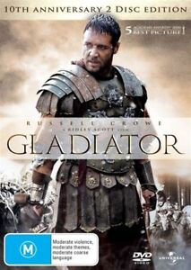 Gladiator-DVD-2010-2-Disc-Set-Anniversary-Edition-Russell-Crowe-FREE-POST