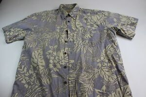 Cooke-Street-Honolulu-Cotton-Island-Hawaiian-Pocket-CAMP-SHIRT-L-Reverse-Print