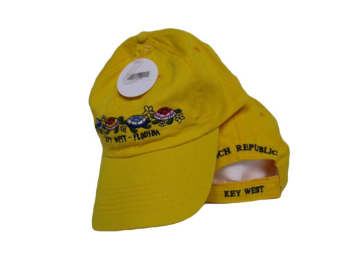Key West Conch Republic Yellow Turtle Turtles hat cap