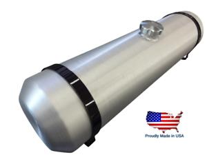 8x8 Center Fill Spun Aluminum Round Gas Tank Tractor Pull Rat Rod 1.5 gal