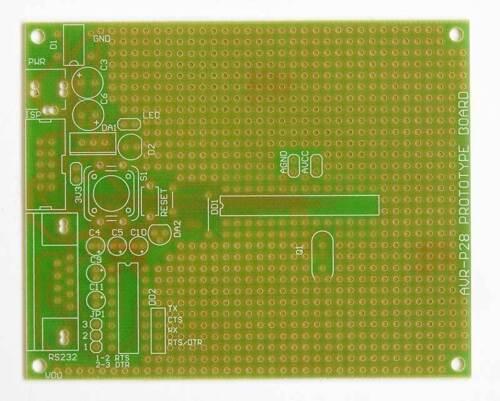 AVR-P28 prototype board  for 28-pin ATMEL chips ATMega88 ATmega48 Atmega8