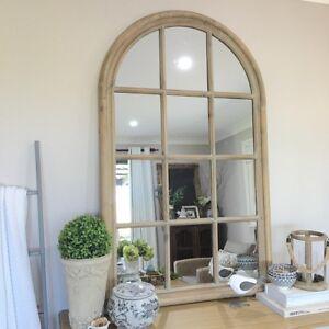 Image Is Loading Stunning Wood Arch Window Mirror Greywash Arched Hamptons