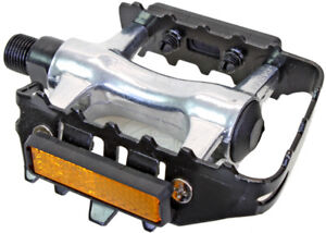 Sunlite Low Profile ATB Bicycle Pedals With Steel Body Alloy Cage Strap 9//16