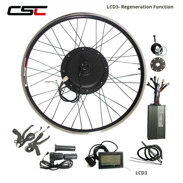 48V 1500W Electric Bike Conversion Kit 20 24 26 inch Cycling Motor  Regeneration